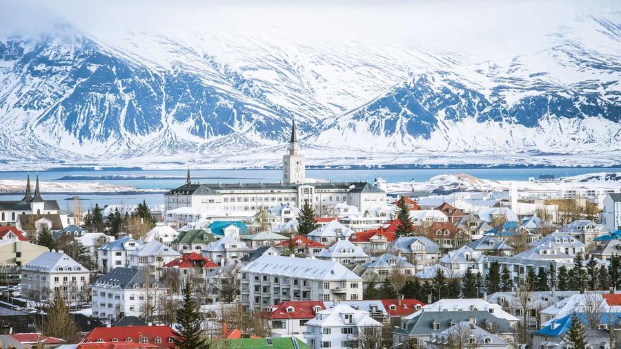 Vista de la capital de Islandia