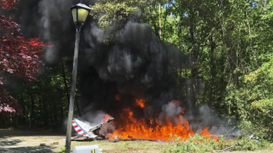 Imagen de archivo de un accidente de avión en Nueva York en mayo.