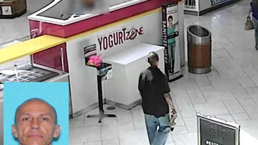 Imagen captada por cámaras de seguridad del sospechoso, y una foto policial.
