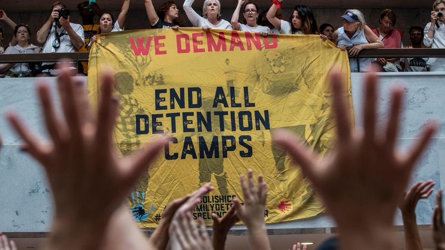 Marcha contra la separación de familias de inmigrantes en EEUU en una imagen de archivo