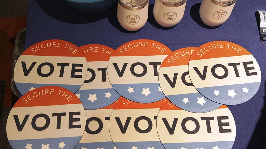 Logo que identifica a los votantes norteamericanos.