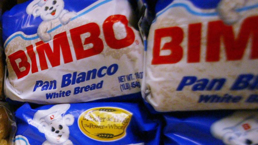 Pan Bimbo en una cadena de productos alimenticios en una imagen de archivo