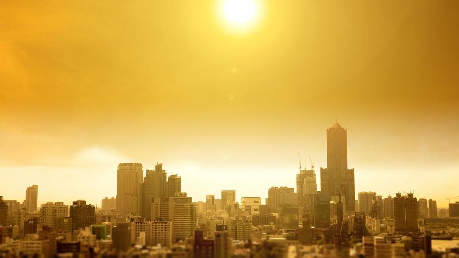 Ciudad con calor