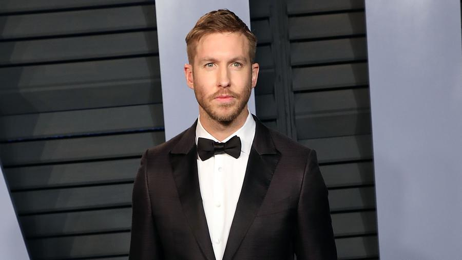 Calvin Harris wearing suit
