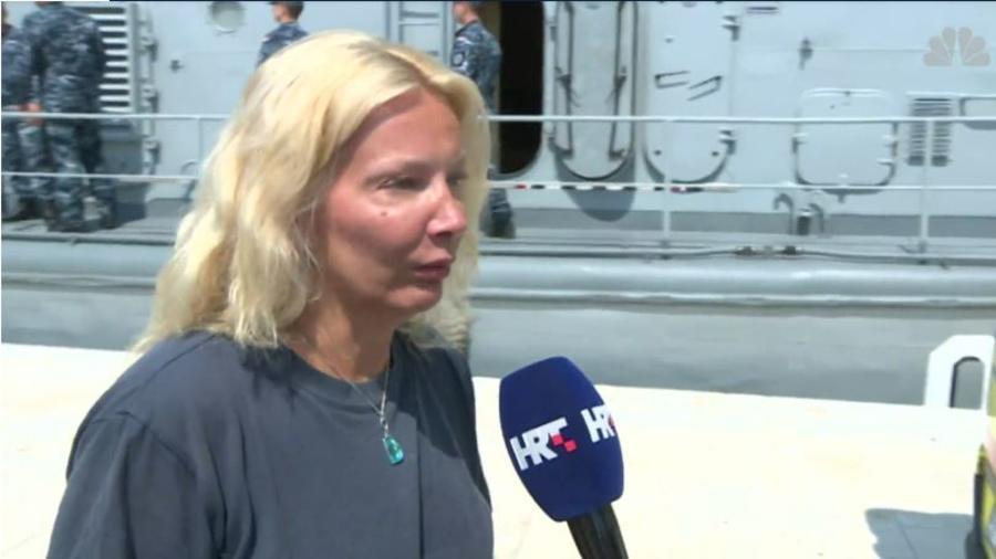 Mujer que sobrevivió caída desde crucero en el Mar Adriático