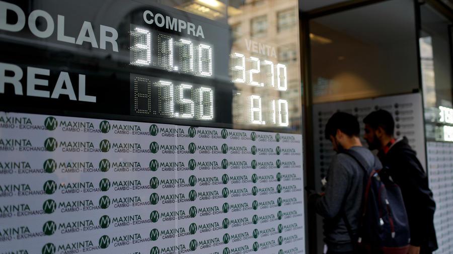 Una casa de cambio de dinero en Argentina en una imagen de archivo
