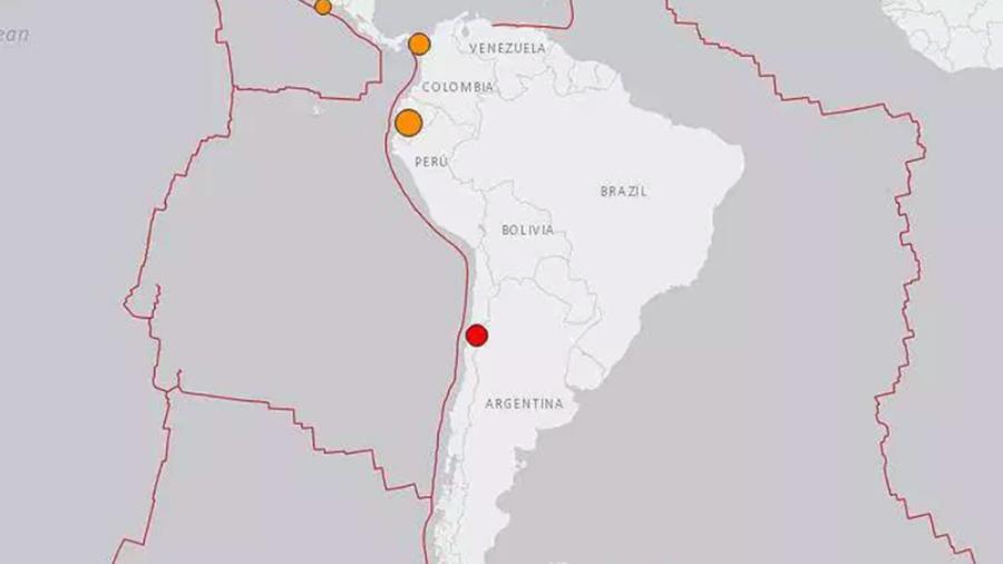 Terremotos en El Salvador, Panamá, Ecuador y Chile