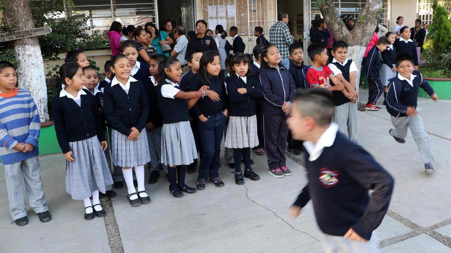 Alumnos de un colegio en México en una imagen de archivo