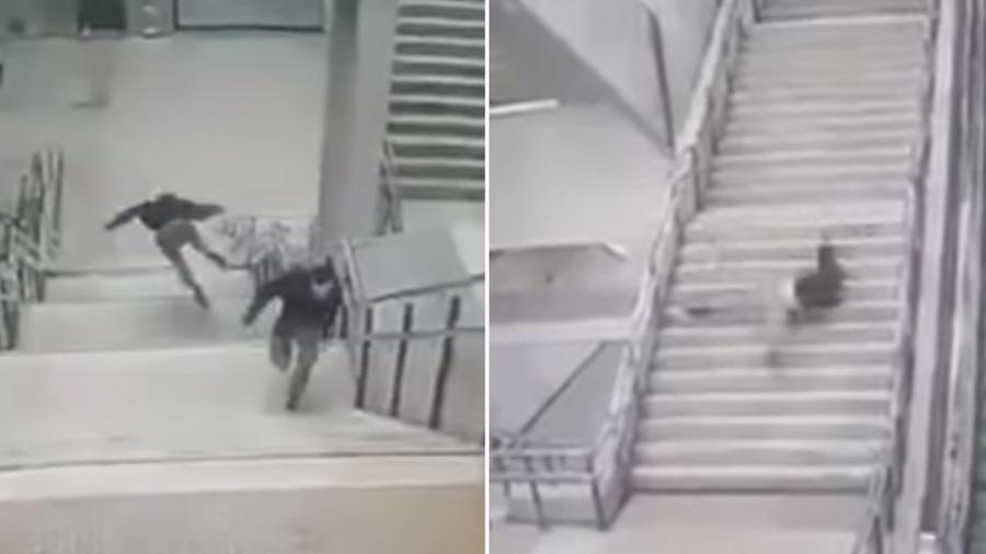 caída metro