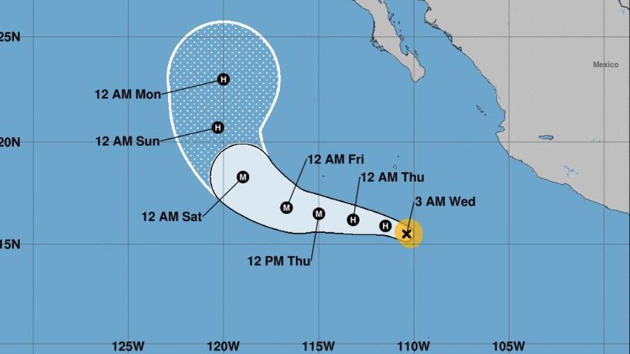 El Servicio Nacional de Huracanes de Estados Unidos, pronostica que se convertirá en huracán a última hora de este miércoles.