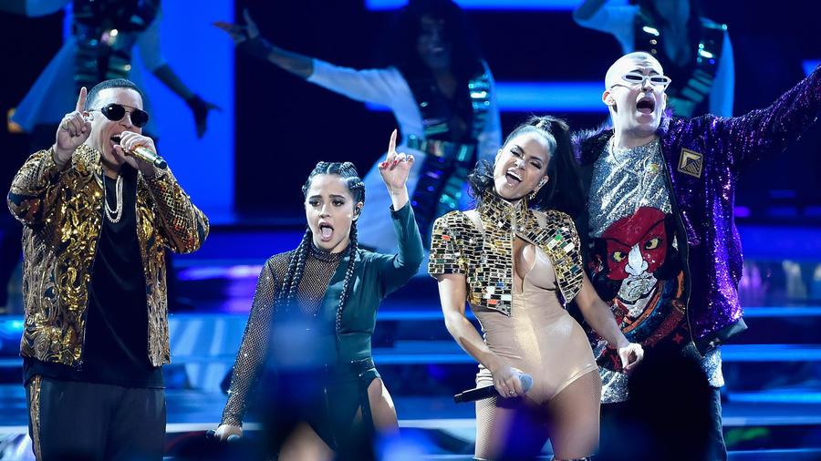 Daddy Yankee, Becky G, Natti Natasha y Bad Bunny en Billboard Latin Music Awards 2018