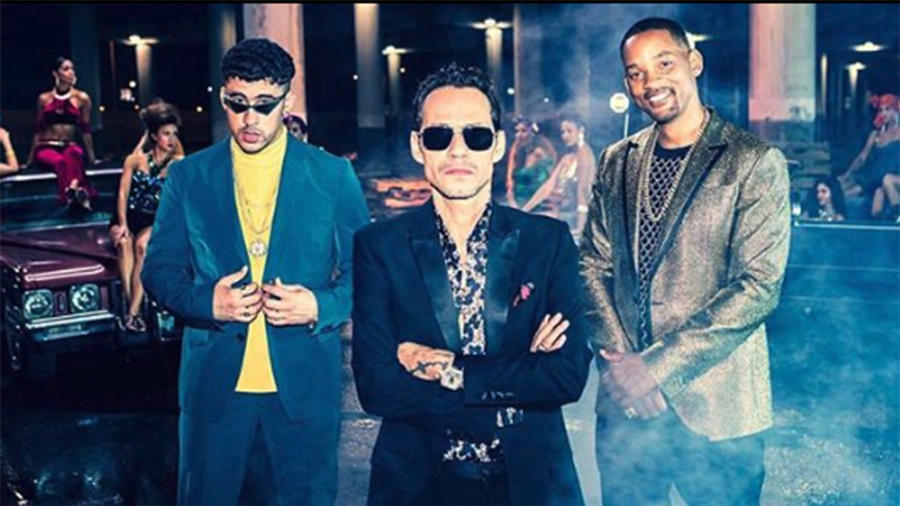 Bad Bunny, Marc Anthony, Will Smith
