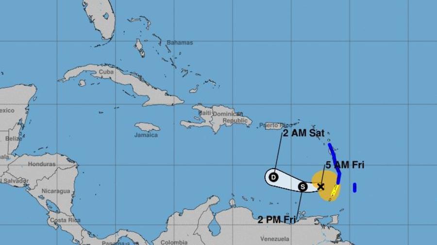 Se pronostica que la tormenta tropical se debilite a depresión a última hora de este viernes.