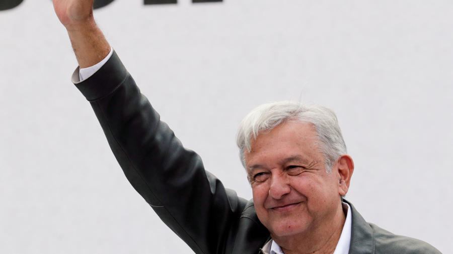 El presidente electo de México, Andrés Manuel López Obrador, hoy en el aniversario de masacre de 1968