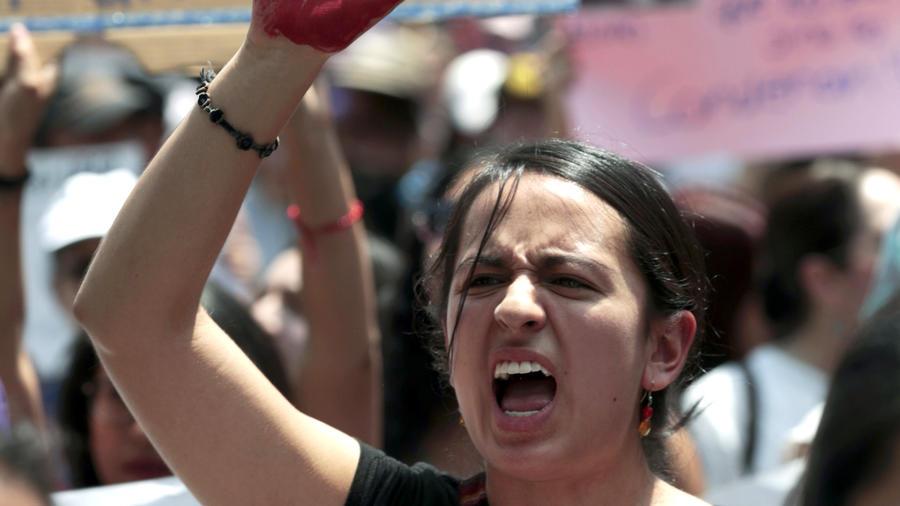 Protesta contra la violencia a las mujeres en septiembre de 2017 en la Ciudad de México.