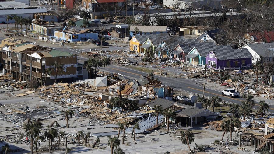 Ciudad destruida por el huracán Michael