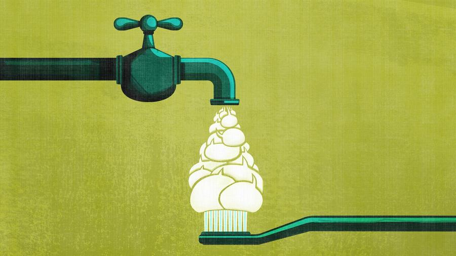 Ilustración sobre el agua fluorada/Benedetto Cristofani /para NBC News