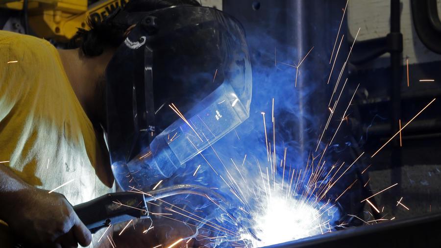 Un soldador en Estados Unidos/AP