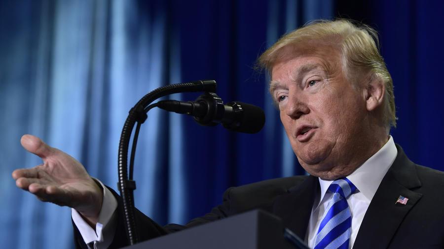 Donald TrumpTrump, durante su anuncio hoy la sede del Departamento de Salud en Washington.