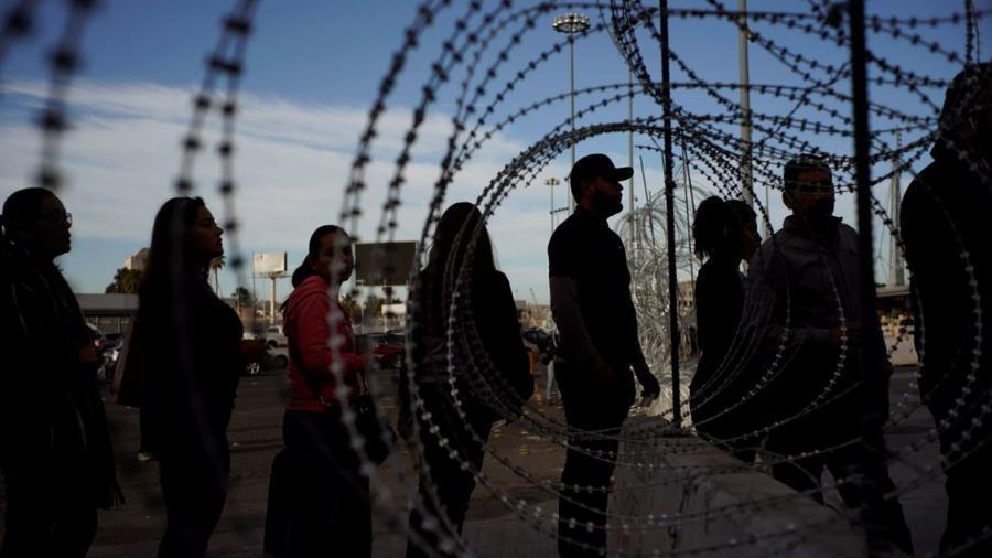 El cruce de frontera de San Ysidro (Tijuana) este lunes 19 de noviembre de 2018.