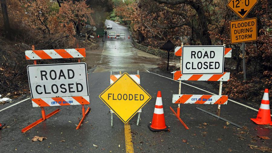 Lluvias en California durante esta semana