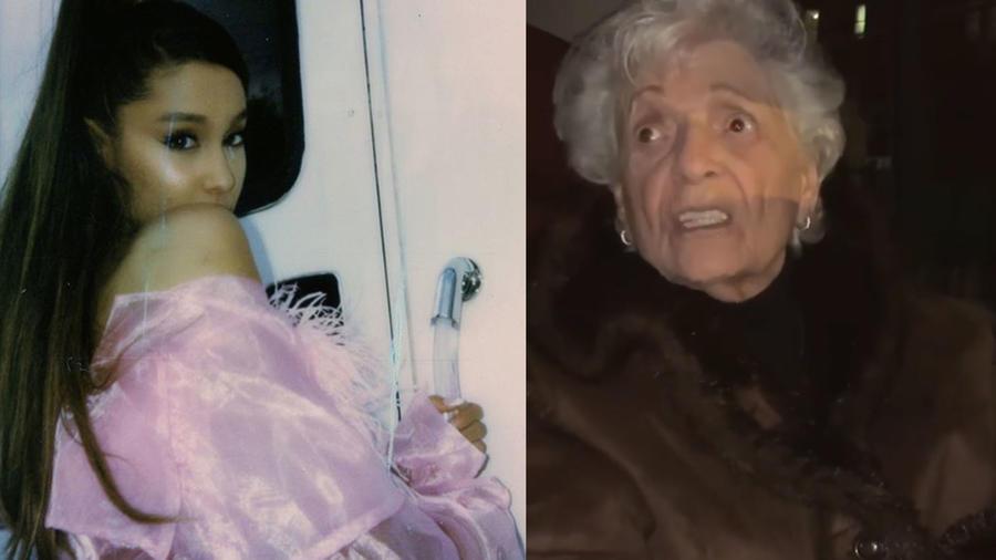 Ariana Grande y su abuelita
