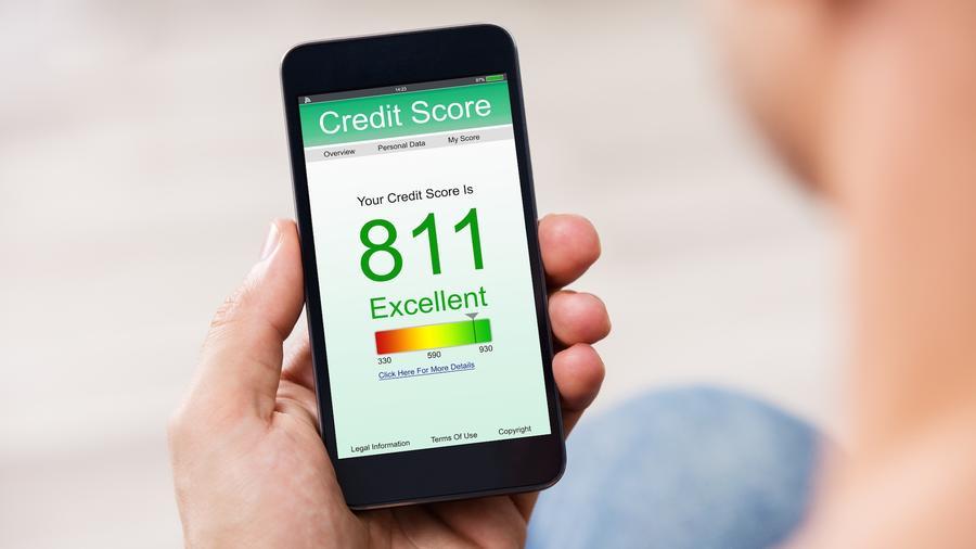 Credit score en teléfono móvil
