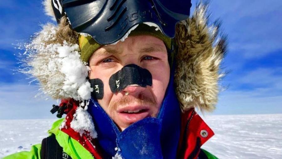 Colin O'Brady  el día 37 de travesía el pasado 10 de diciembre.