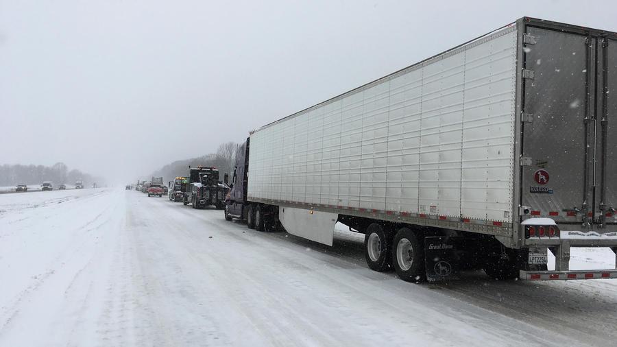 Tormenta de nieve afecta al estado de Tennesse en una imagen de archivo