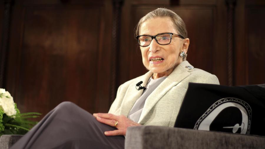 Ruth Bader Ginsburg en un evento en el Museo de la Ciudad de New York el 15 de diciembre 2018
