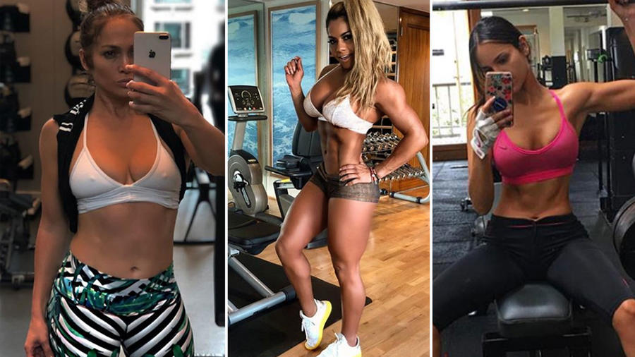 Collage latinas fitness