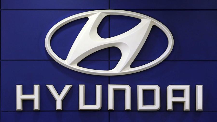 Foto de archivo del logo de Hyundai