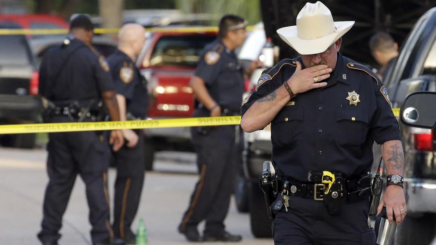 Policía del condado de Harris en una imagen de archivo de 2015.