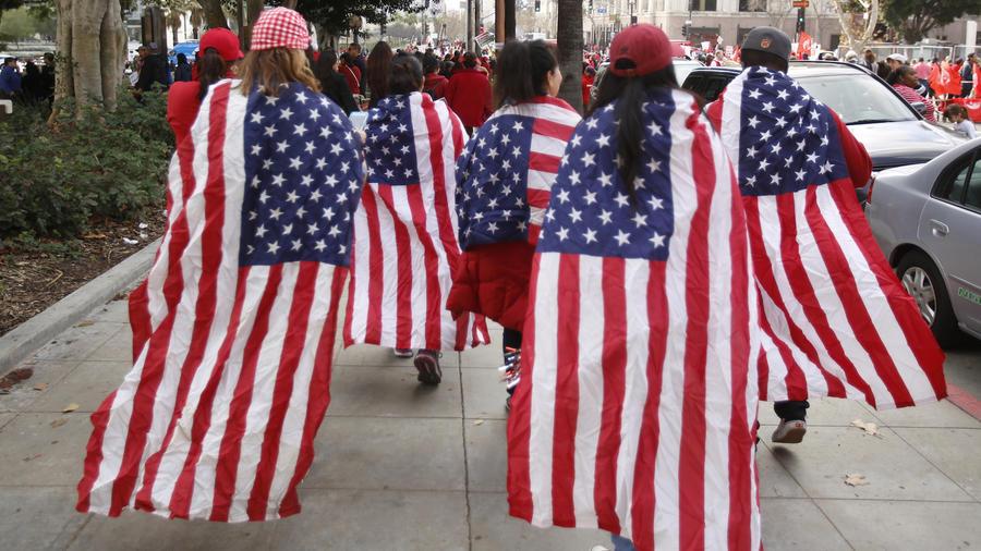 Protesta de maestros el pasado viernes en Los Ángeles.