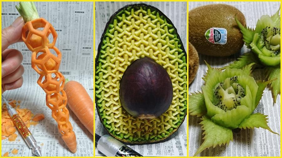 Frutas talladas