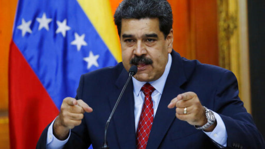 El presidente de Venezuela Nicolás Maduro durante una conferencia en el Palacio Presidencial de Miraflores, en Caracas.