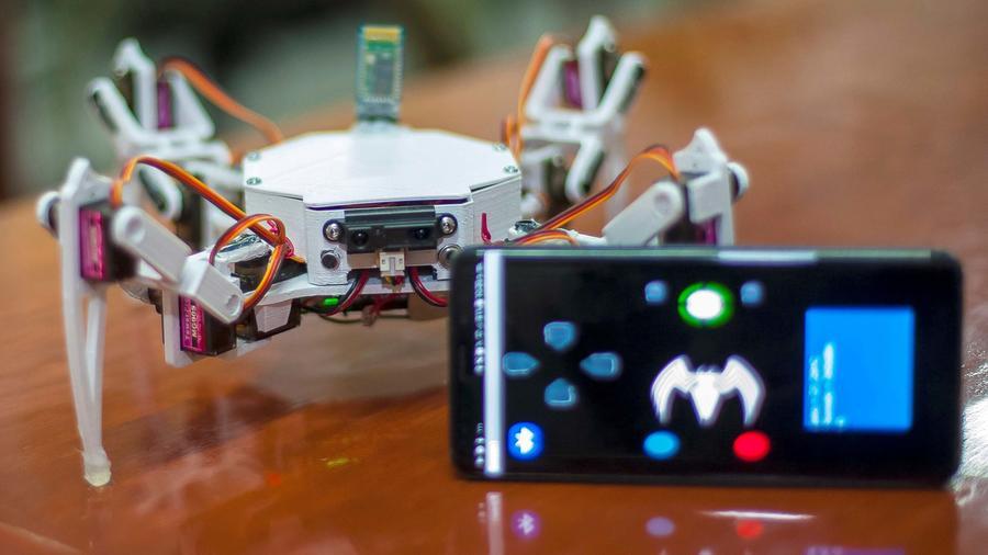 Estudiantes del Instituto Politécnico Nacional (IPN) de México crearon el Robot Arácnido (RDB-10), un robot con forma de araña que permite localizar a personas atrapadas entre escombros.