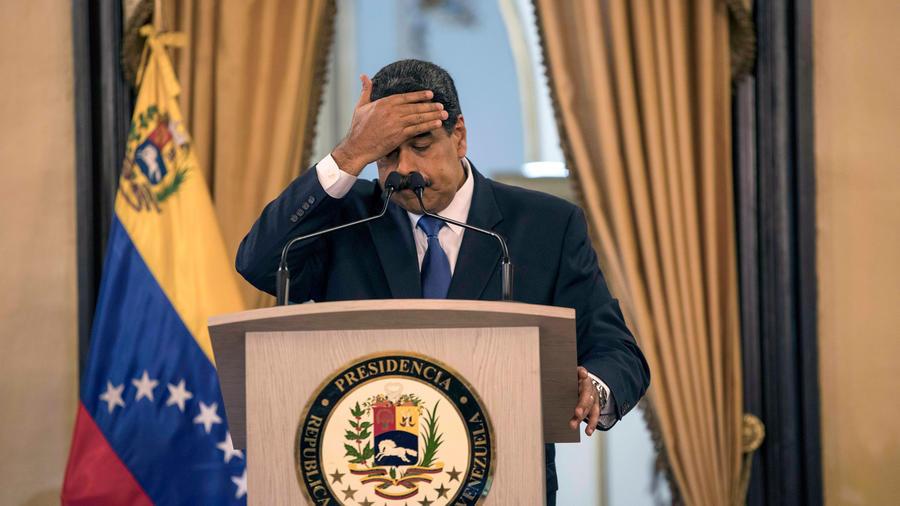 Presidente de Venezuela, Nicolás Maduro, en una comparecencia de prensa