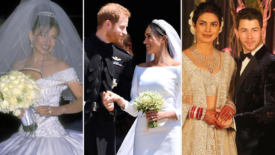 Collage bodas de famosos