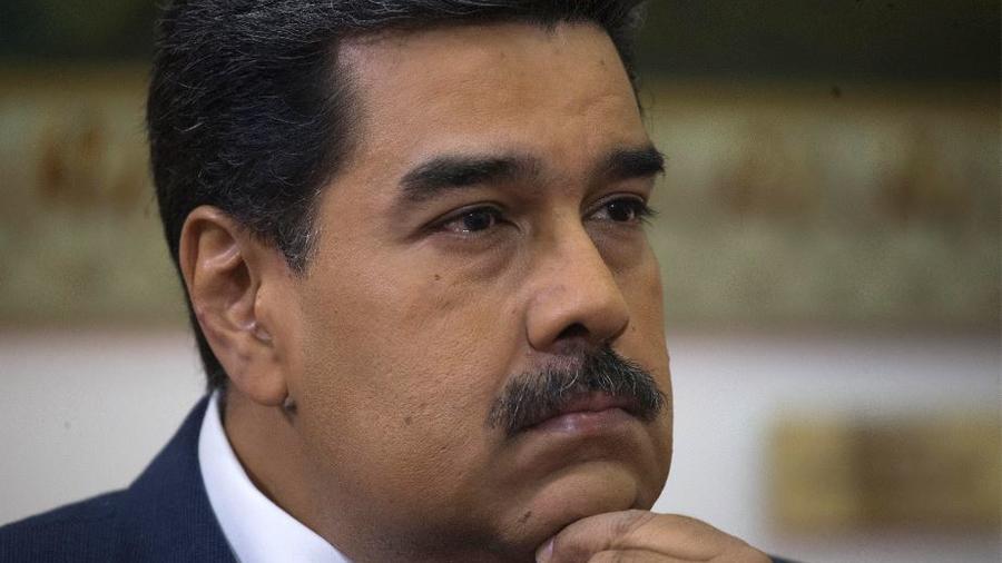 El presidente de Venezuela, Nicolás Maduro, en na entrevista con The Associated Press en el palacio presidencial de Miraflores en Caracas, Venezuela, el jueves 14 de febrero de 2019.