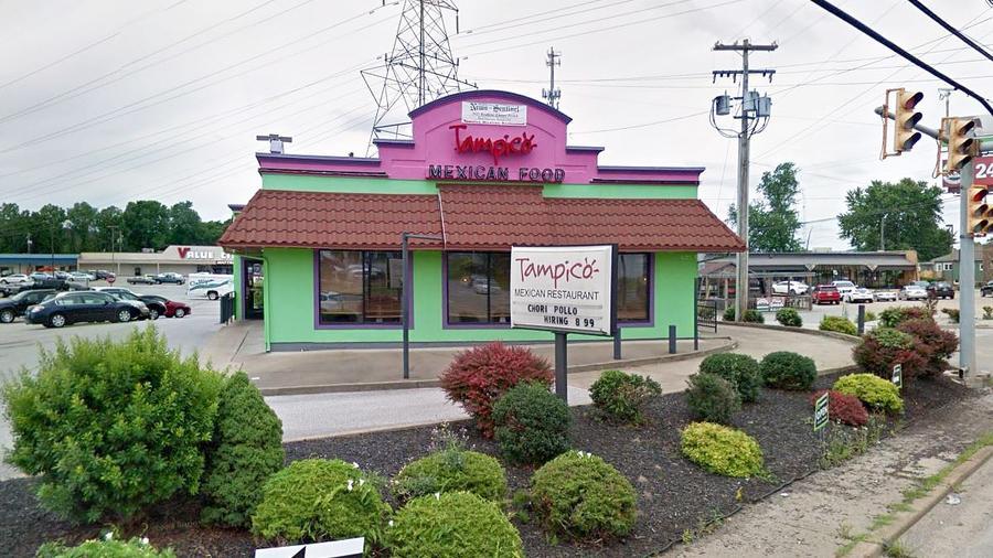 Restaurante mexicano Tampico en Parkersburg, Virginia Occidental. Mapas de Google