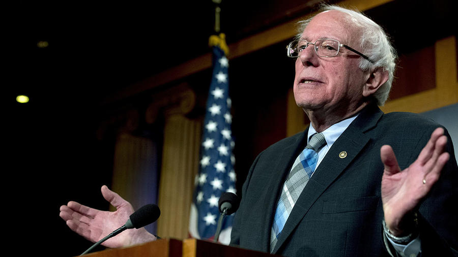 El senador demócrata Bernie Sanders durante una conferencia en el Capitolio, en Washington D.C.