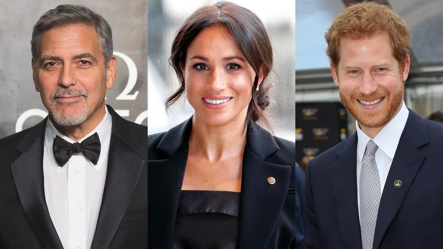 George Clooney Meghan Markle y Harry