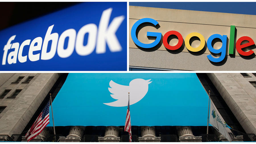 Facebook, Google y Twitter