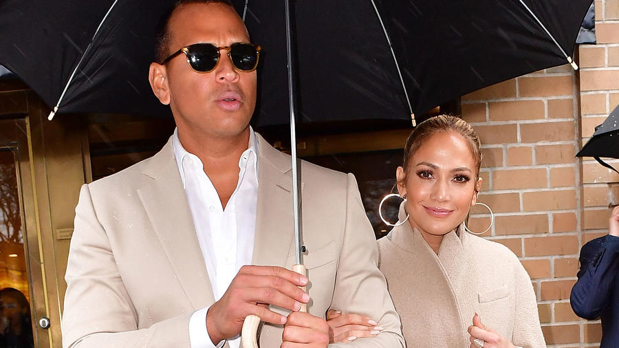 Jennifer Lopez y Alex Rodriguez en Nueva York