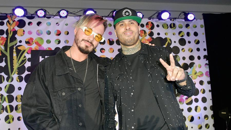 J Balvin and Nicky Jam attend the 2017 Billboard Latin Music Conference
