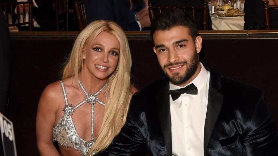 Britney Spears and her boyfriend at 29th Annual GLAAD Media Awards