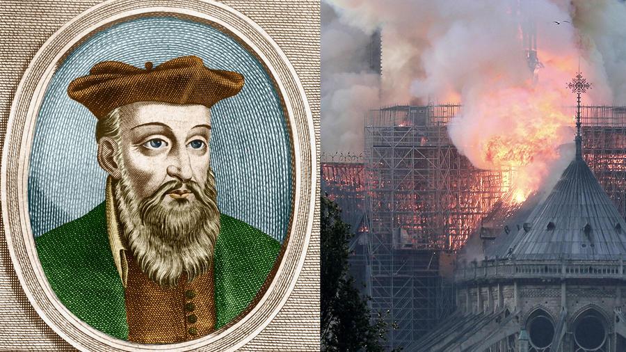 Relacionan profecía de Nostradamus con fuego en Notre Dame