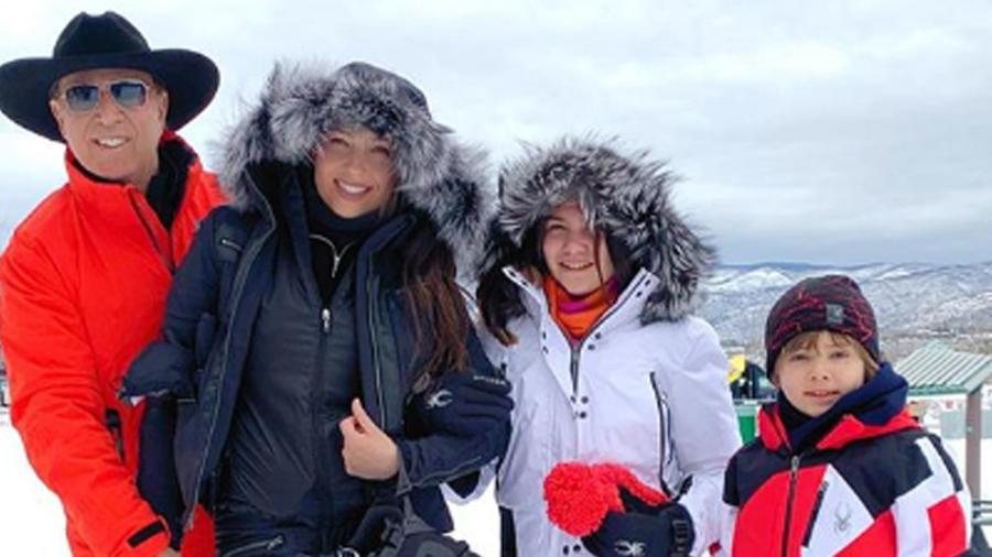 Thalía y su familia de vacaciones en Aspen, Colorado