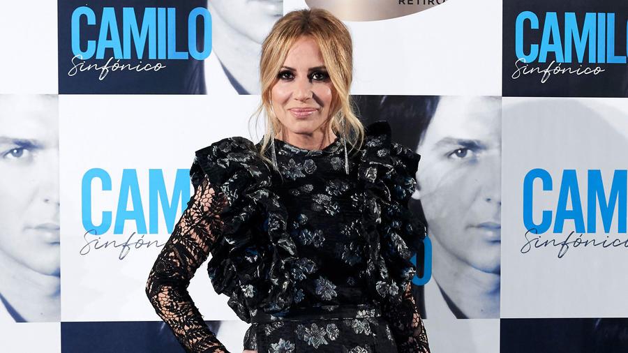Marta Sánchez en la presentación del nuevo álbum de Camilo Sesto en Madrid, España.